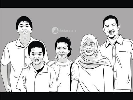 Lineart vector Family by ndop