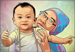 Baby and Mom Vector