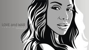 Tamar Braxton Line Art Vector