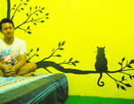 Silhouette Cat in my Room by ndop