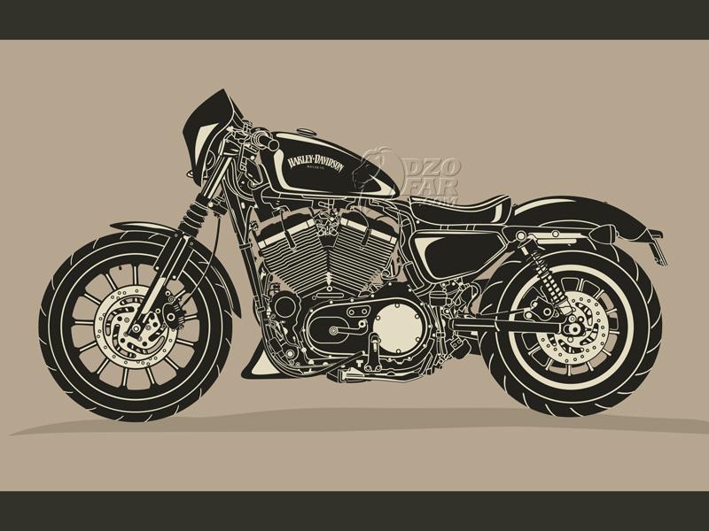 Harley Davidson Vector by ndop