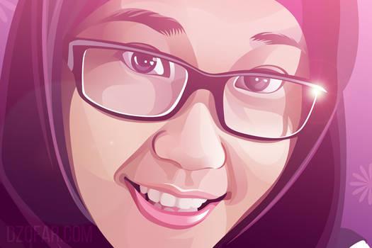 Realistic Vector Hijab Girl