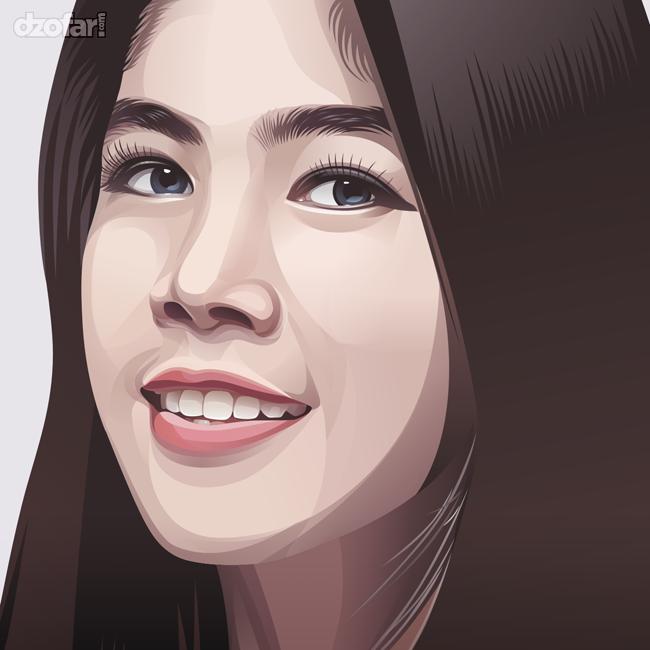 Realistic Vector Beautiful Girl by ndop