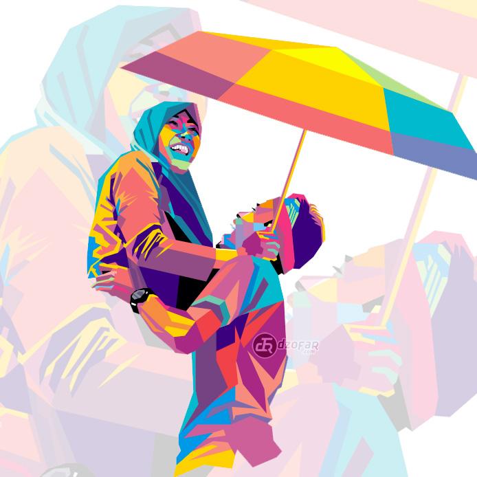 Work In Progress: Pop Art WPAP Couple by ndop
