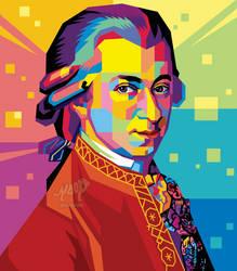 Wolfgang Amadeus Mozart Pop Art New Version