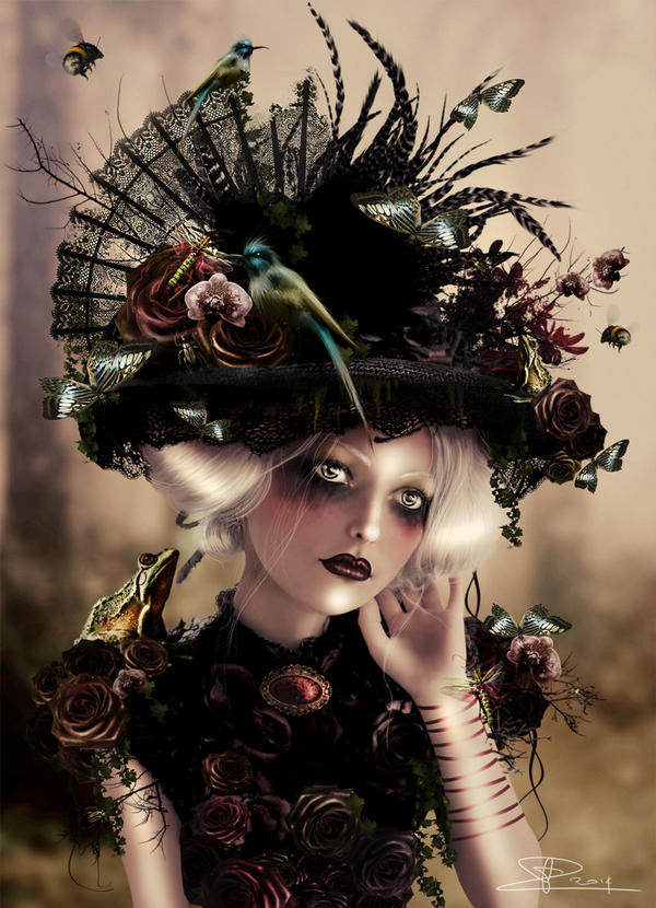 Portrait of a bug Lady by Toefje-Kunst