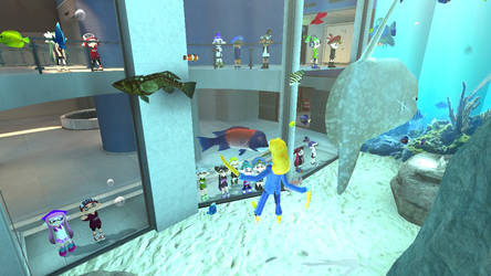 Matto and Friends visits the Aquarium by MattotheInkling