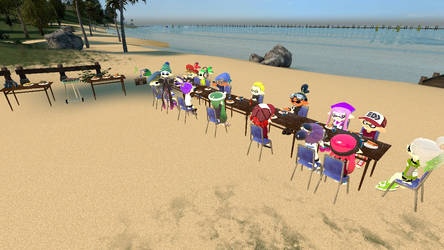 Matto and Friends Cook-off at the Beach by MattotheInkling
