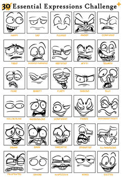 30 expressions challenge thing
