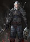 Geralt of rivia ( Witcher Fanart )