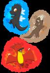 Godzilla, Anguirus and Rodan