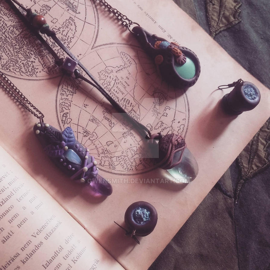 Witch gem jewlries by GwenSmith