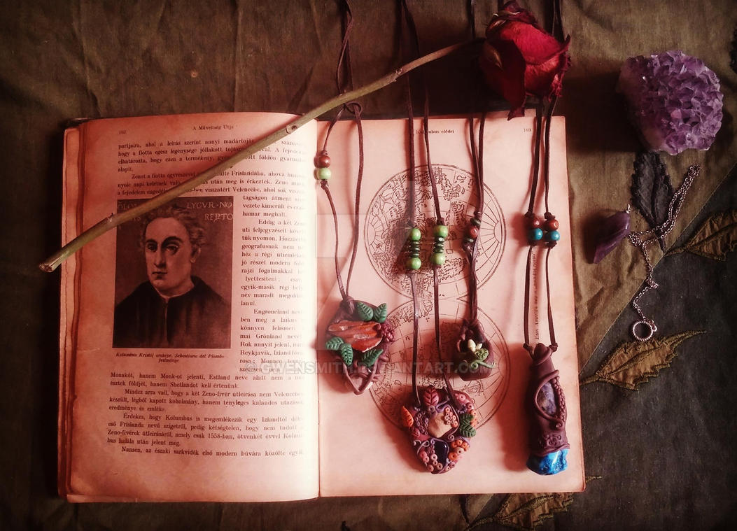 nature inspired magical necklaces by GwenSmith