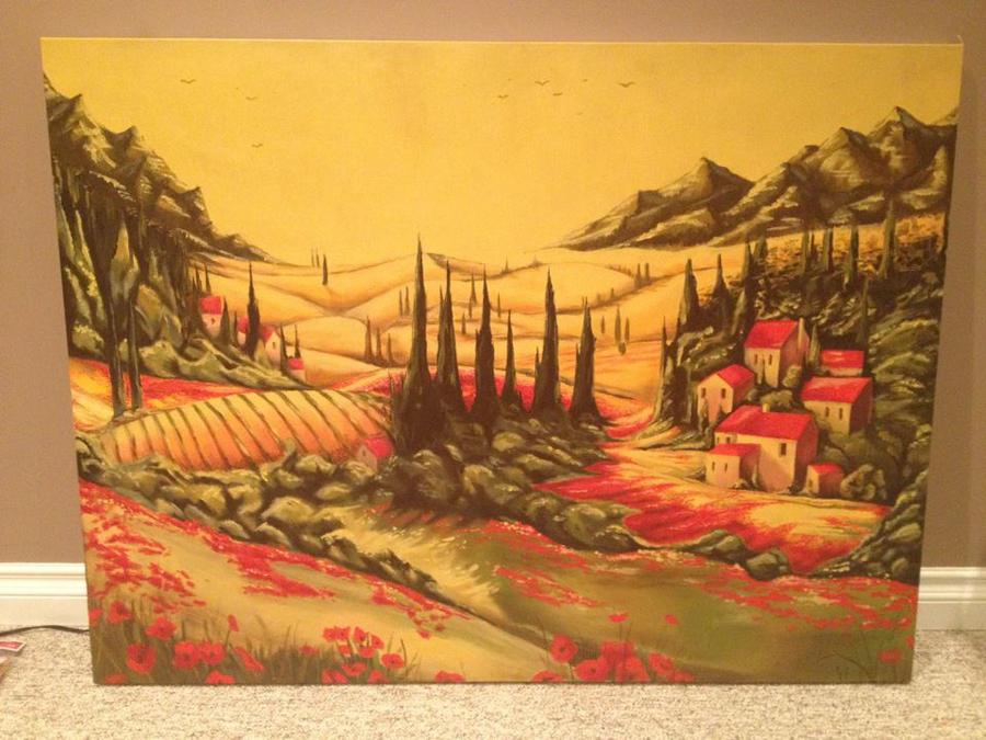 Tuscan Poppies by Rainemaster