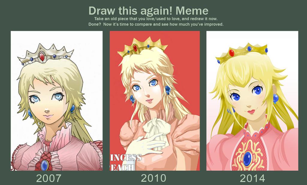draw_this_again__meme___princess_peach_by_rainemaster d7ljedx draw this again! meme princess peach by rainemaster on deviantart