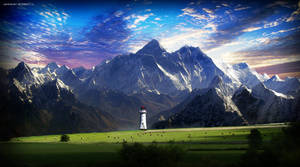 Lighthouse and Mt. Everest