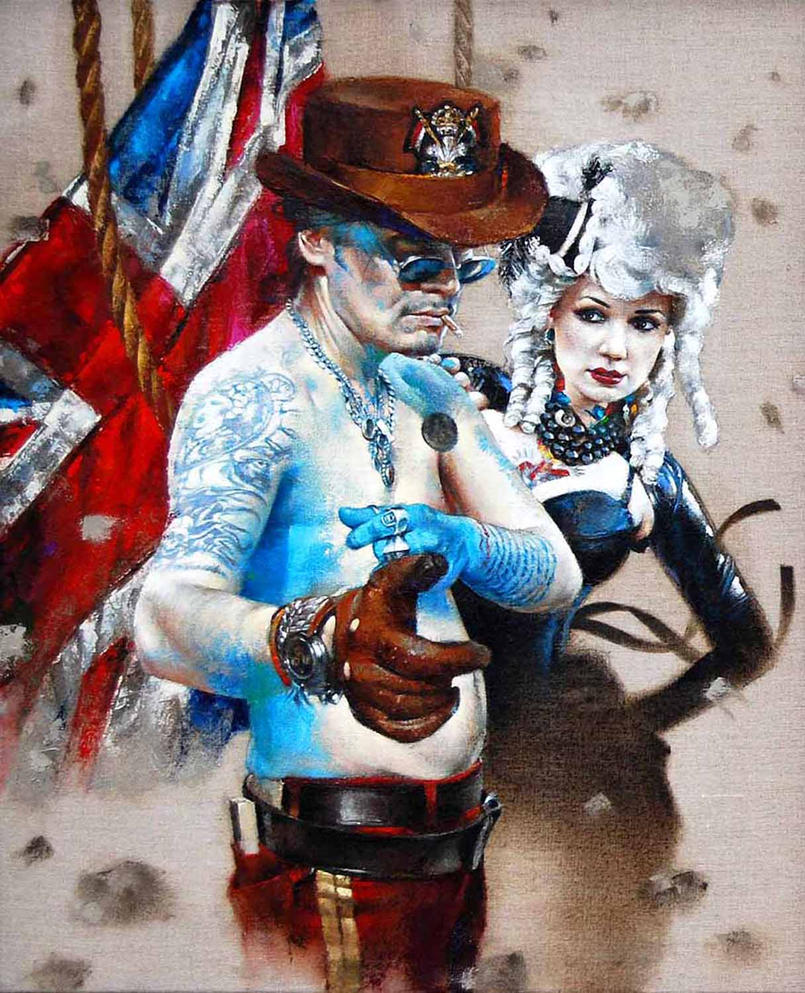 Adam Ant is the Blue Black Hussar by morganpenn