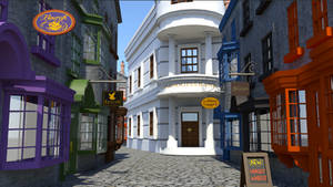 Diagon Alley (Harry Potter Visual Novel) by jcling