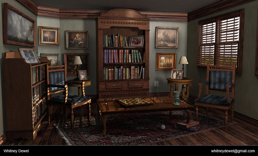 Victorian Study Room Victorian Study by