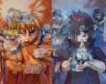 Naruto vs. Sasuke wallpaper