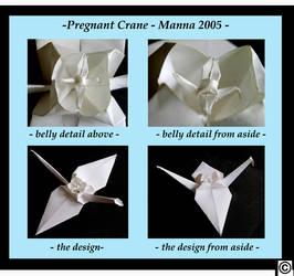 Pregnant crane by foldingtheuniverse