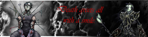 Death Greets with a smile by Vinz0rex