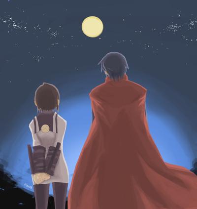 under the moonlight by neng-neng