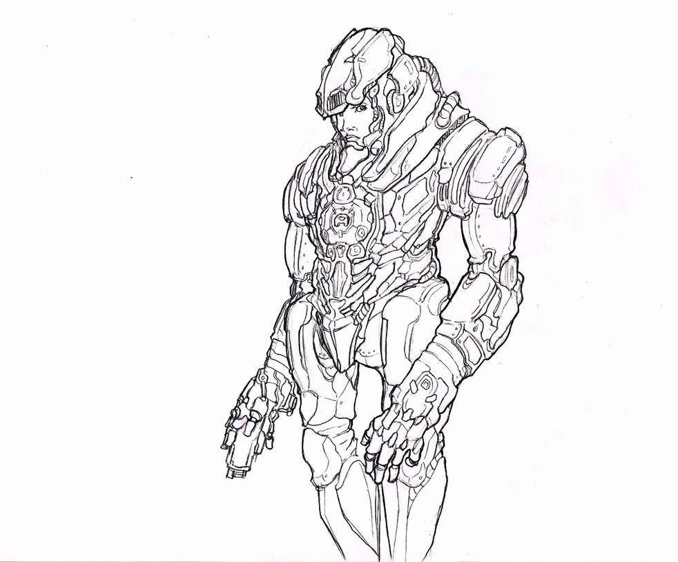 RoboGirl Pencil by Metallic-Arms