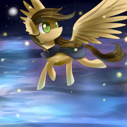 Flying with fireflies by Incinerater