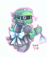 Maid SD Zaku by Incinerater