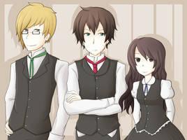 Mordecai, Emlyn and Zanthi by Lindajing