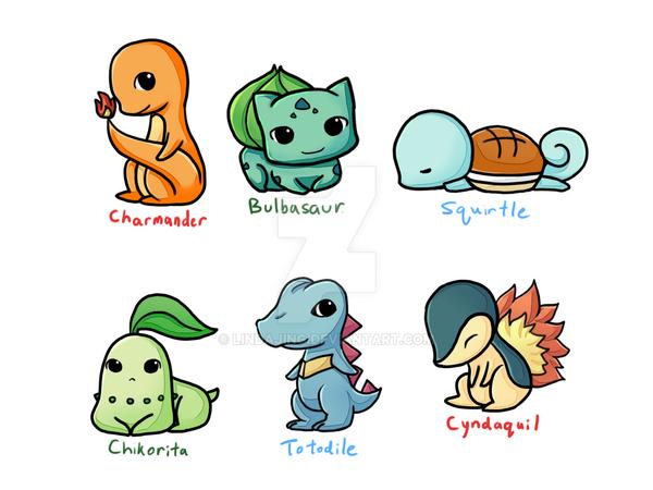 Pokemon Starters By Lindajing On Deviantart