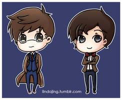 Doctor Who Chibis by Lindajing