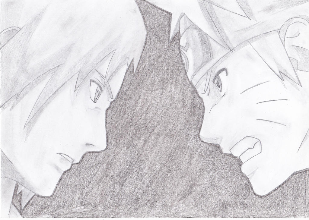 Naruto vs sasuke by lolthe000