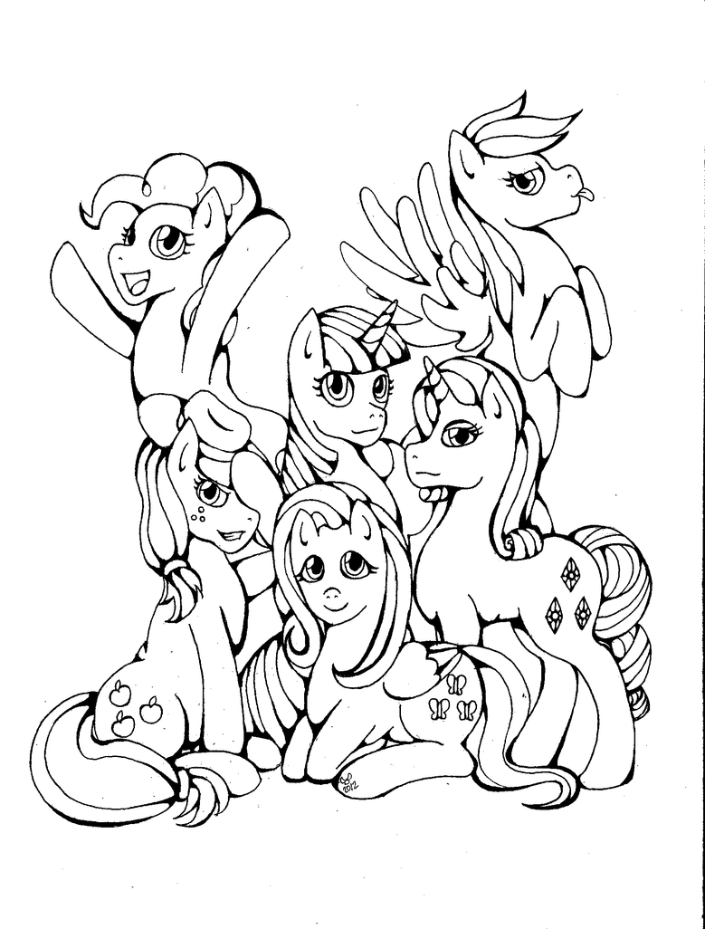 Mlp mane 6 pages coloring pages for Mlp coloring pages mane 6
