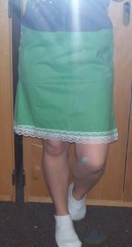 Green Mini-Polka Dot Skirt
