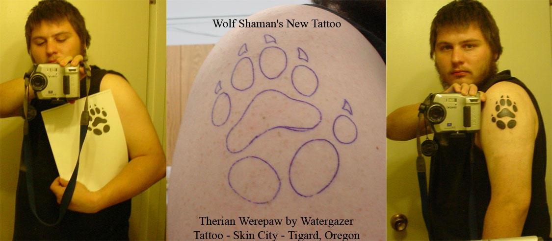 Wolf Shaman's New Tattoo by Wolf-Shaman