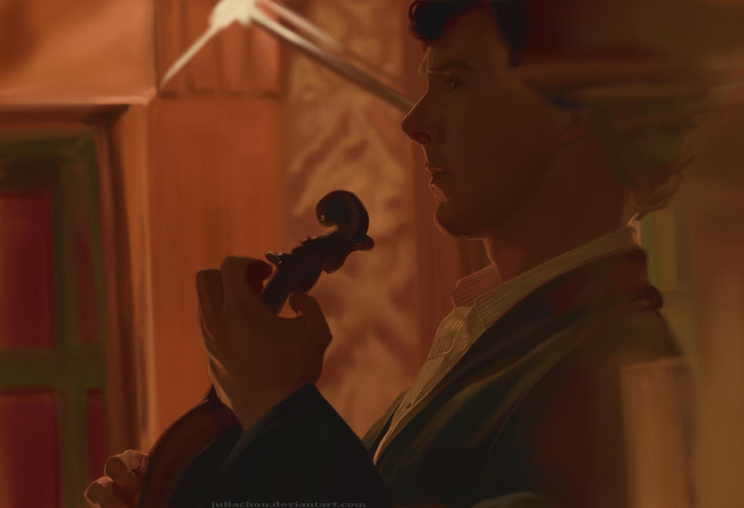 Sherlock: violin by teralilac