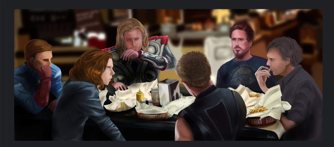 Avenger eating Shawarma by teralilac