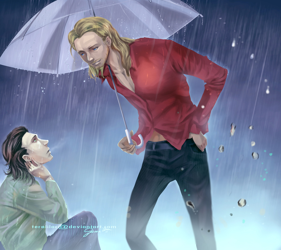 [Thor and Loki] Rainy Days by teralilac