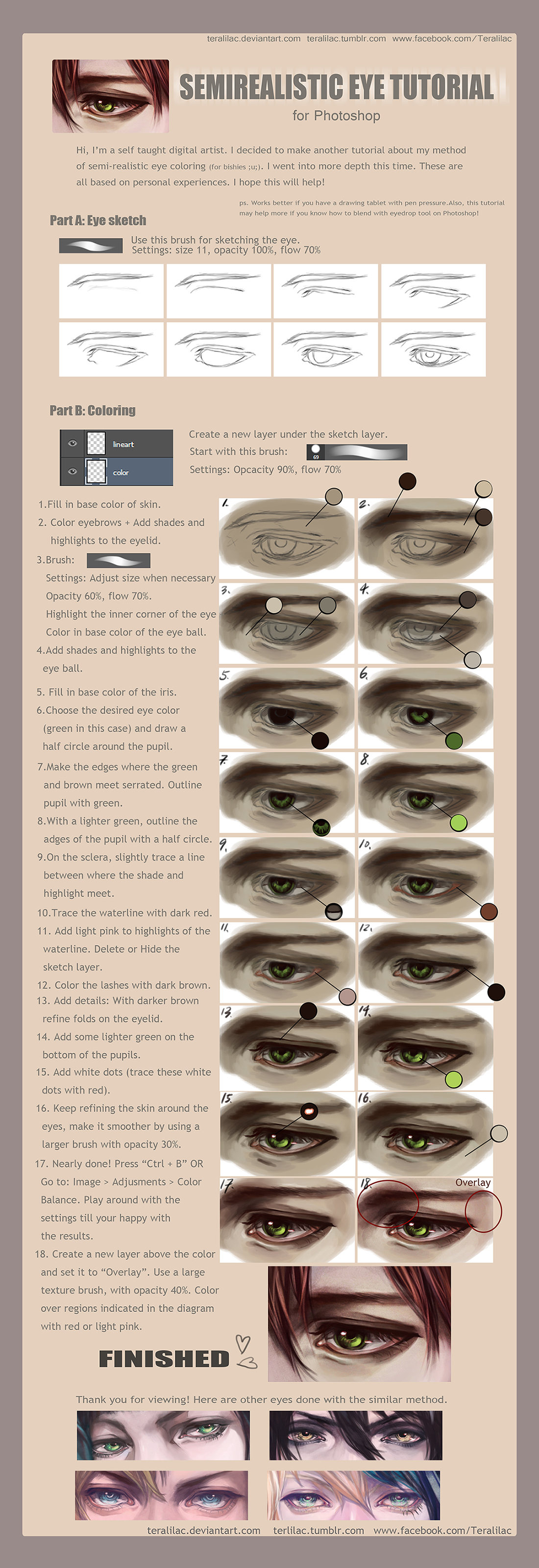 [Tutorial] Semirealistic Eye by teralilac