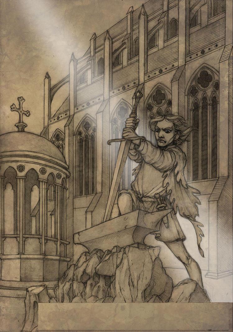 Le Morte cover- pencils by CopperAge