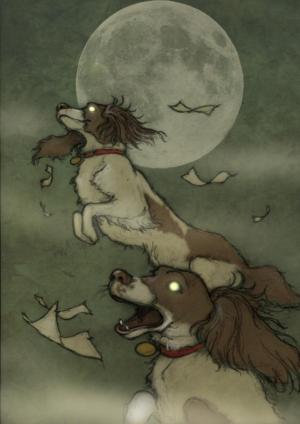 Undead flying Spaniels. by CopperAge