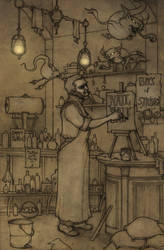 Grimes General store (with dustcats) by CopperAge