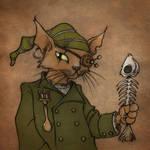 Steampunk pirate cat