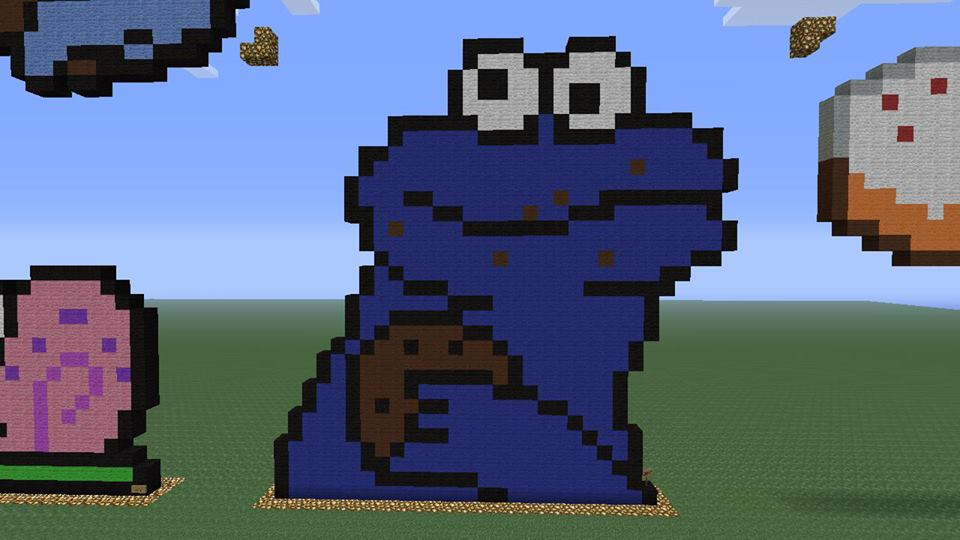 deviantART: More Like Minecraft Pixel Art 29: Cookie Monster by ...