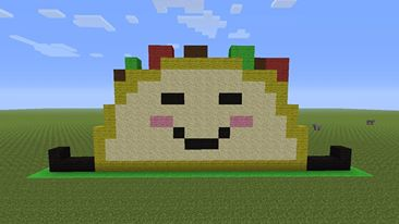 Making Pixel Art On Minecraft