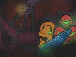 Metroid by Orbitalbacon357