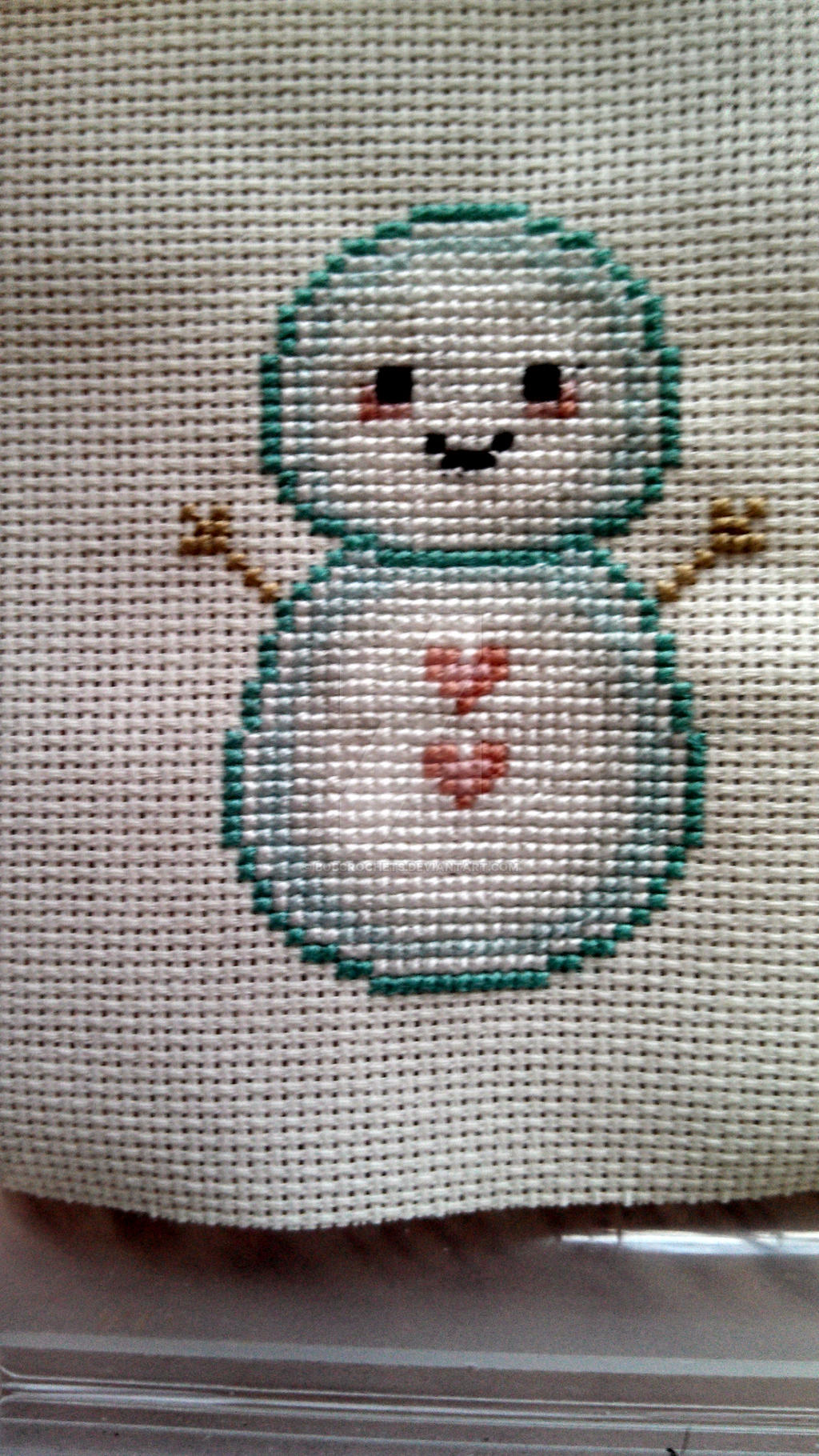 Adorable Snowman Christmas Ornament Cross Stitch by bobcrochets