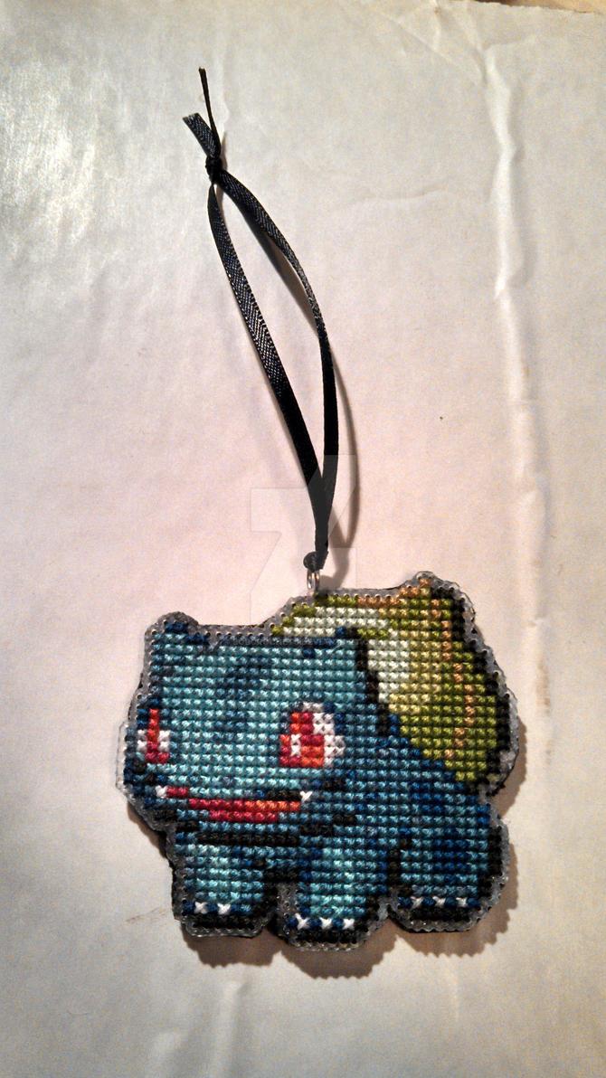 #001 Bulbasaur Ornament Cross Stitch by bobcrochets